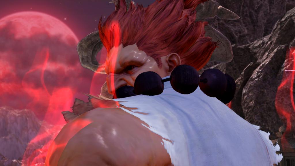 Akuma saindo do SF pra infernizar no Tekken.