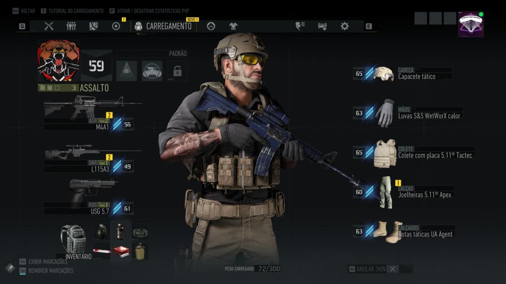 Ghost Recon Breakpoint equipamentos